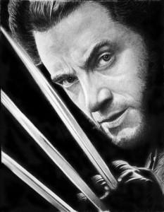 Wolverine. Hyperrealistic pencil drawing by Italian artist Franco Clun