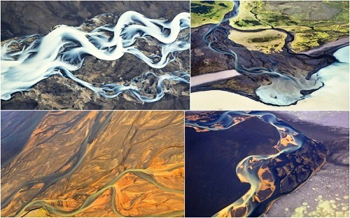 Natural abstract of Icelandic rivers