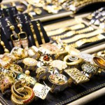 Variety of gold jewellery