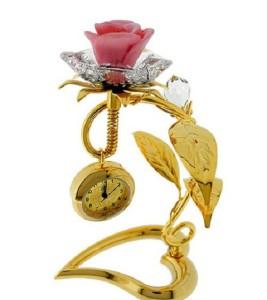 Beautiful Mini Clocks with Swarovski Crystals
