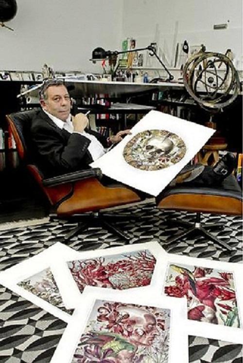 Madrid based artist Juan Gatti in his art studio