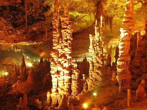 Columns inside the cave