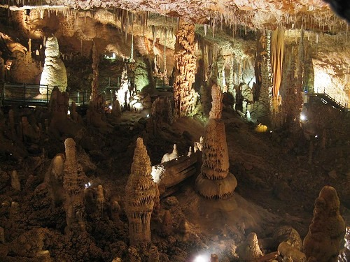 Unearthly view of Avshalom cave