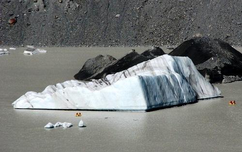 Frozen Striped icebergs
