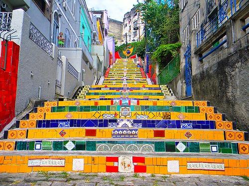 Escadaria Selaron and staircase