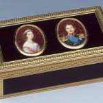Snuffbox with portraits of Grand Duke Alexander Pavlovich and Grand Duchess Maria Alexandrovna. France between 1819-1838