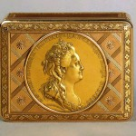 Snuffbox with commemorative medals. Russia 1820.