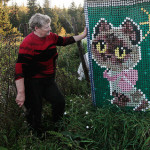 Olga Kostina decorated house with recycled plastic bottle caps