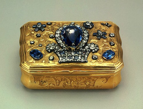 Gold, silver, diamonds, sapphires, quartz, casting, stamping, engraving. Pauzie, Jeremiah. Russia. St. Petersburg. Mid-18th century