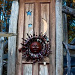 Sun, moon and stars door