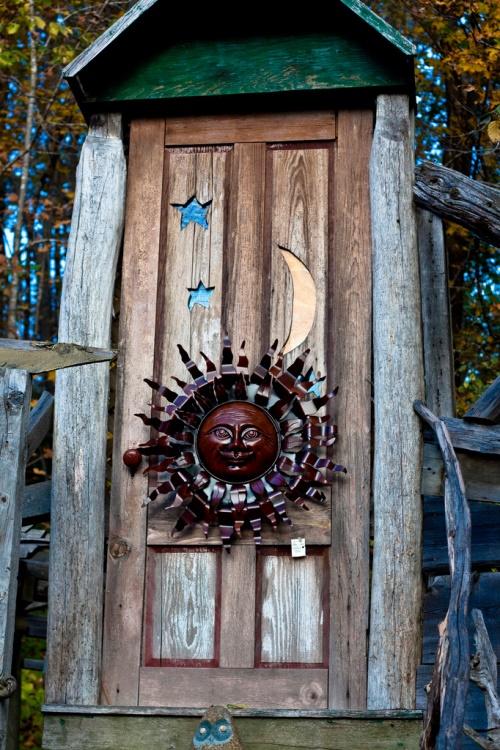 Sun, moon and stars door