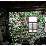village Yalutorovo, Tyumen region, house decorated with bottles