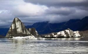 Black and white Striped icebergs