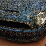Beautiful details. A copy of the famous Mini Cooper S car built by German sculptor Alexander Geissler