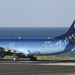Beautiful blue landscape painted on Aircraft