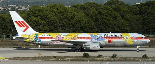 Graffiti on airplane