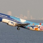 Balloons painted in bright colors. Aircraft graffiti