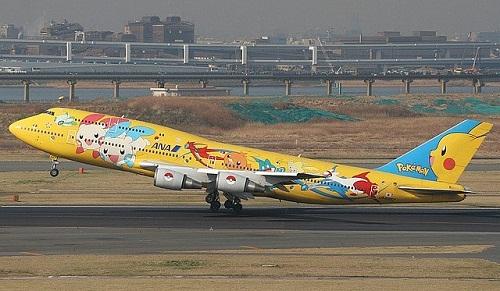 Pokemon Aircraft graffiti