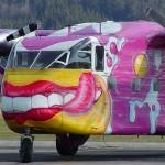 Smiling Aircraft, graffiti