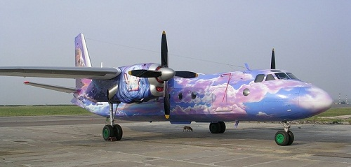 Clouds in the sky – Aircraft graffiti