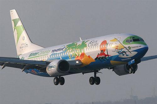 Summer at the sea. Aircraft graffiti