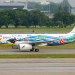 Summer holiday pleasure in Aircraft graffiti