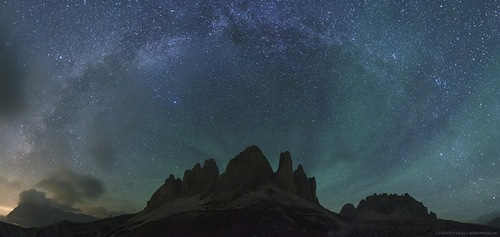 Airglow over Italy