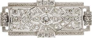 Art Deco Diamond, Platinum Brooch