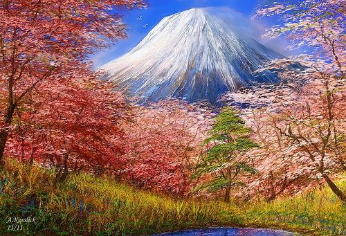 Peak. Beauty of mountains by German Fine Artist Andre Kosslick