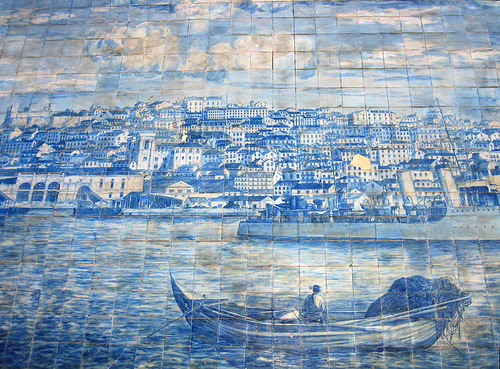 Panoramic images of Azulejo art