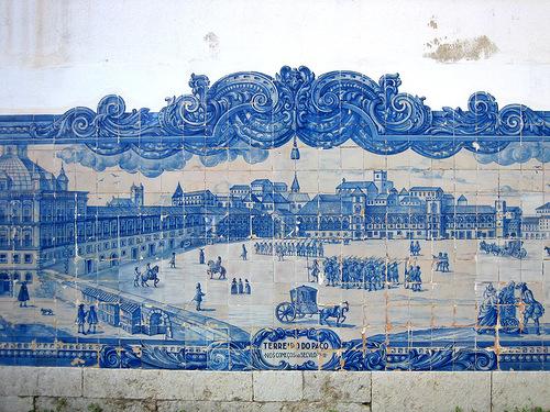 Ancient tiles of Azulejo art