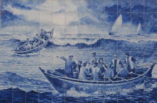 Traditional Portuguese Azulejo art