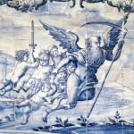 In the beginning of XVIII century the blue-and-white Azulejos with historical and genre compositions became popular