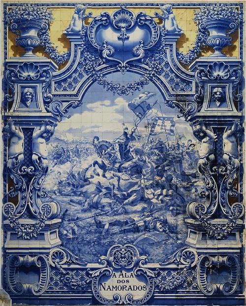 Battle scene, Azulejo art