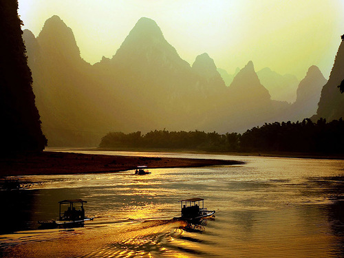 Waters of beautiful River Lee in China