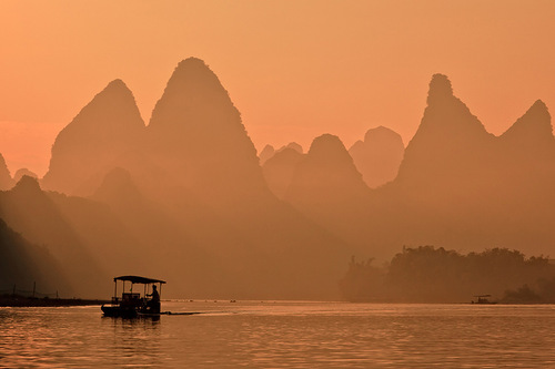 Mountains and River Lee in China