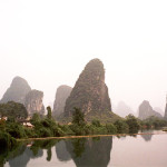 Reflections. Beautiful River Lee in China