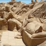 Famous psychologist Sigmund Freud with a patient (FIESA 2009 sand festival)