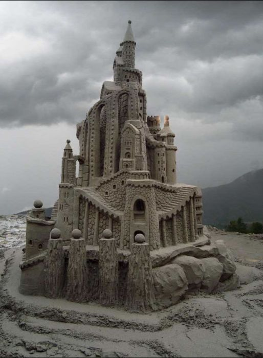 Stunning sand castle