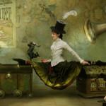 Doing gymnastics. Beautiful fantasy world in photoart of Russian photographer Vladimir Fedotko