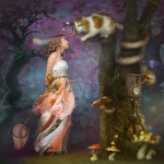 In the magic forest. Beautiful fantasy world in photoart of Russian photographer Vladimir Fedotko
