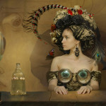 Original costume design. Beautiful fantasy world in photoart of Russian photographer Vladimir Fedotko
