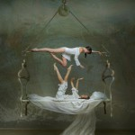 Hanged bed. Beautiful fantasy world in photoart of Russian photographer Vladimir Fedotko