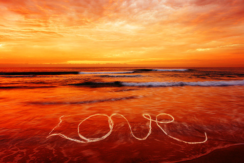 Love, sunset and beach. Photographer Hermin Abramovitch, Israel