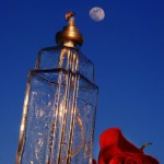 Glass vessel and red rose. Photoart by Hermin Abramovitch, Israel