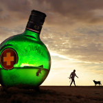 Green glass Flask. Photographer Hermin Abramovitch, Israel