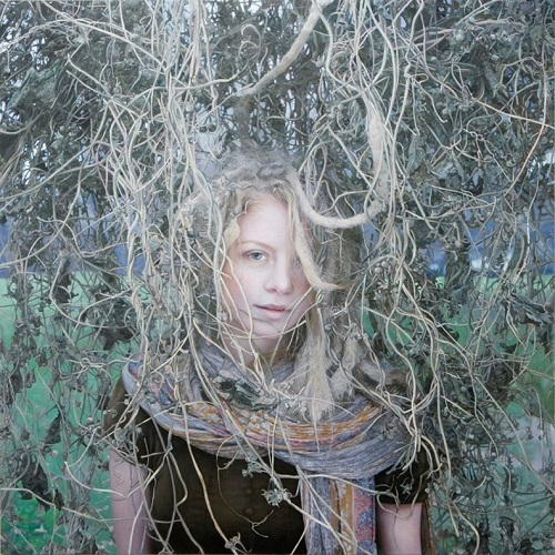 In the woods. Painting by Yigal Ozeri