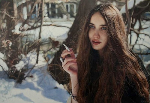 Lizzie smoking