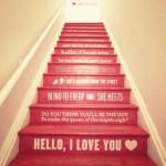 Beautiful romantic staircase