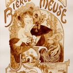 Art Nouveau style Beer painting by American artist Karen Eland